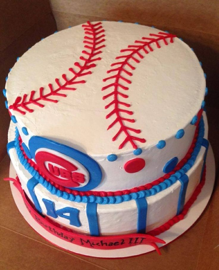 Chicago Cubs Baseball Cake Ideas And Designs