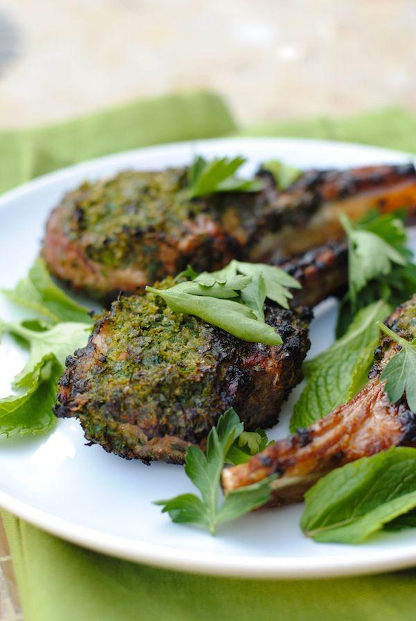 Herb-Crusted Grilled Lamb Chops   Recipe