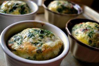 spinach + sun-dried tomato = frittata | GuiltyPleasures | Pinterest