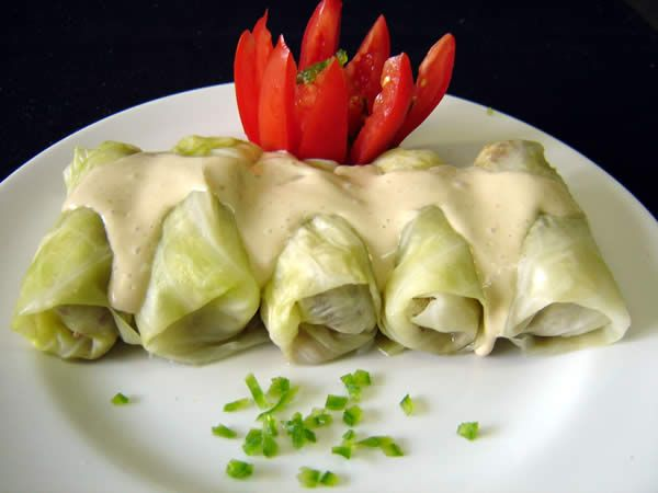 Vegan Cabbage Rolls (brown rice & garbanzo beans)