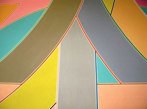 York Factory A, 1972 by Frank Stella at the Seattle Airport.