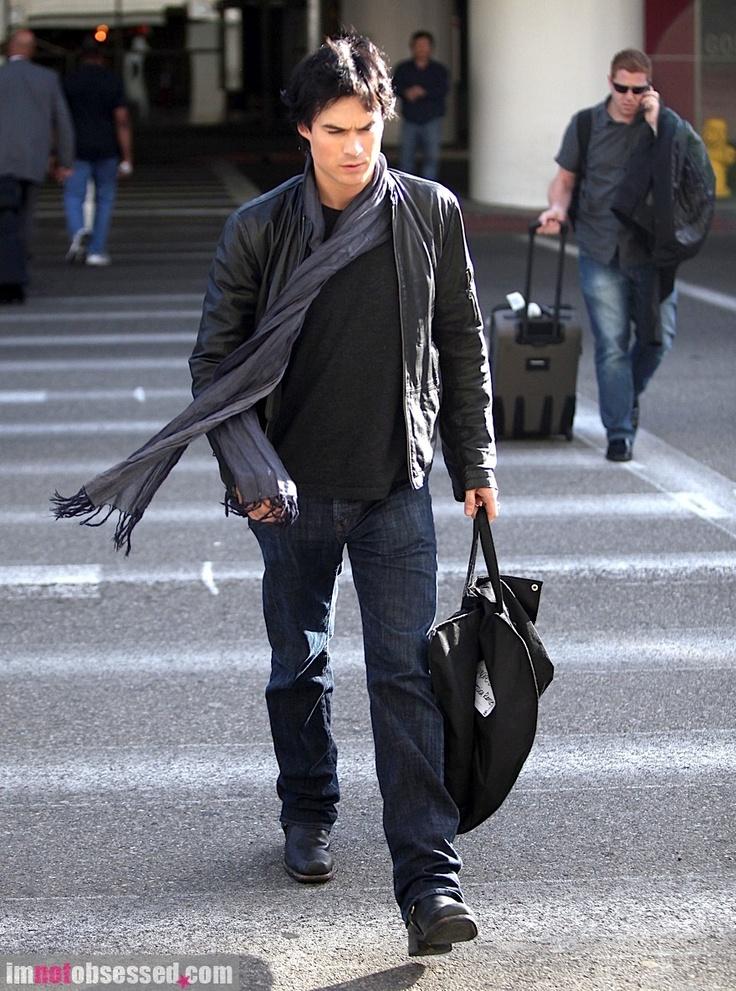 Ian somerhalder leather jacket