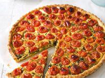 Cherry tomato, spinach & feta quiche | food porn | Pinterest