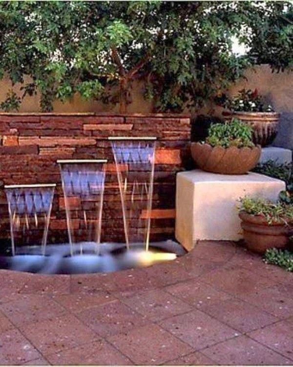 Backyard Waterfalls Ideas : Triple Backyard Waterfall Ideas  A little piece of heaven  Pinterest