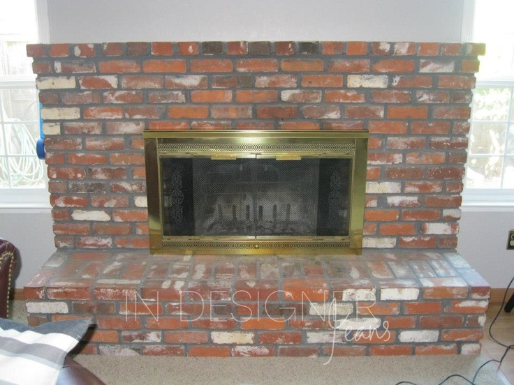 Brick Fireplace Makeover Before And After Brick Fireplace Makeover Classic Fauxs Finishes