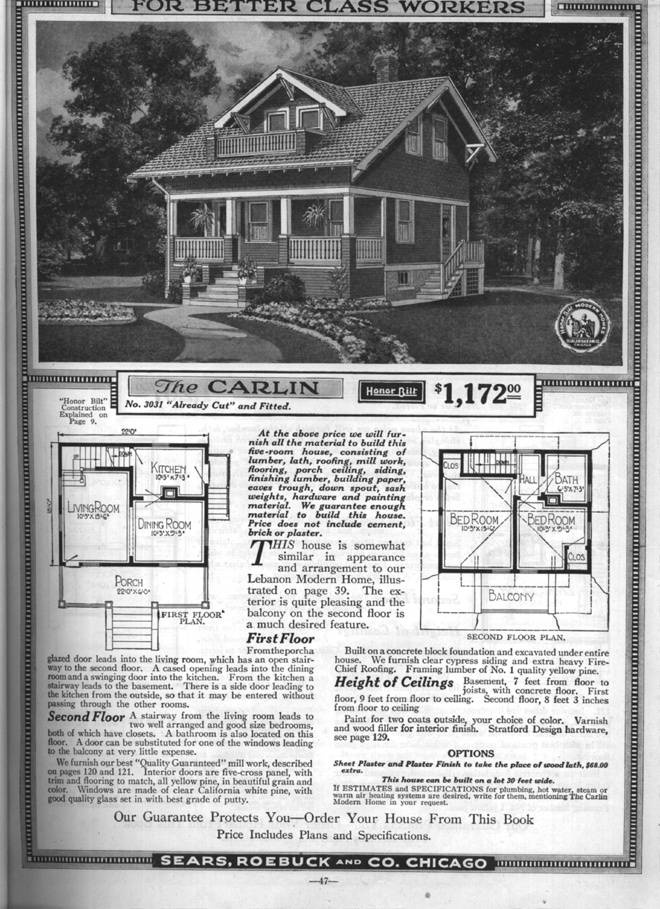 Sears 1930 bungalow house plans for House plan catalogs free