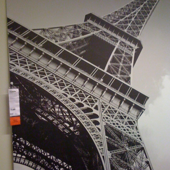 big wall hanging of eiffel tower ikea kitchen pinterest