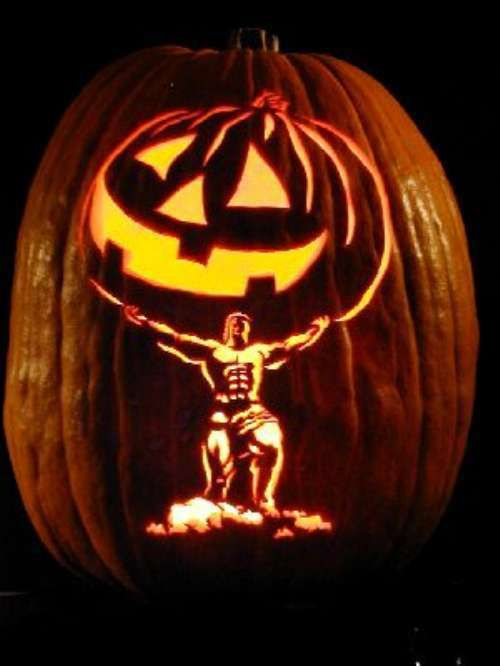 Cool Lit Pumpkins Thechive Jack O Lanterns Pinterest