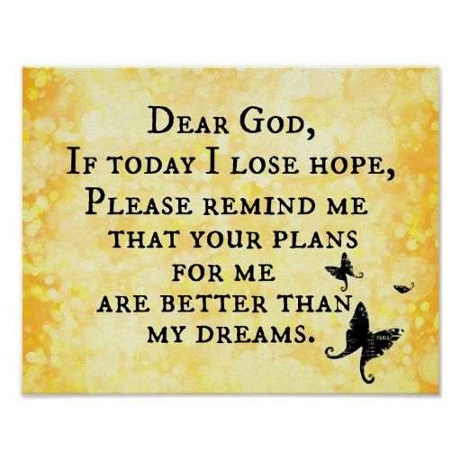 inspirational christian quote dear god