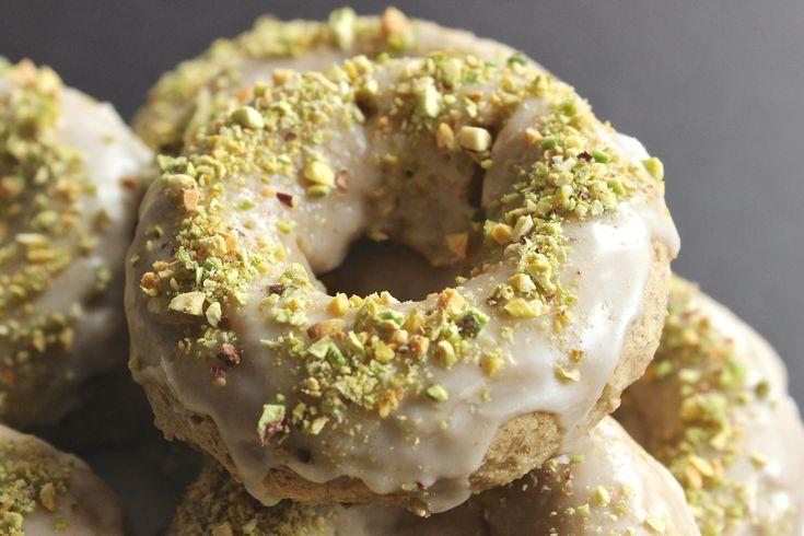 Cardamom Donuts with Rosewater Glaze & Pistachios   Recipe