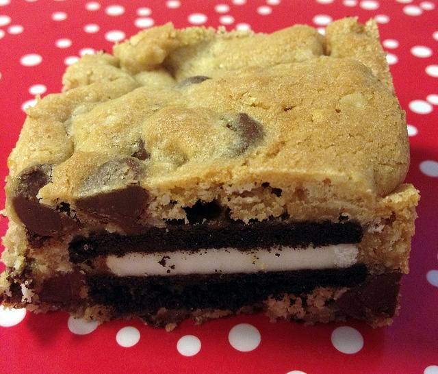 Oreo and Caramel Stuffed Chocolate Chip Cookie Bars by NoshWithMe, via ...