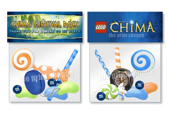 Legends of chima goodie bag toppers chima birthday party favors