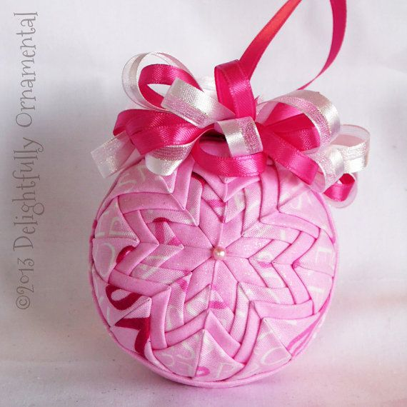 breast cancer awareness quilted ornament christmas. Black Bedroom Furniture Sets. Home Design Ideas