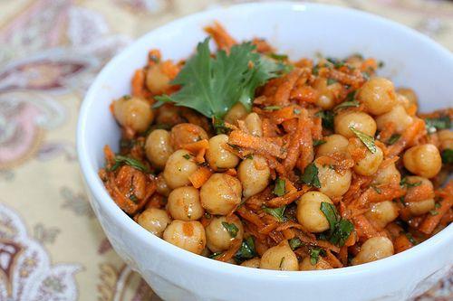 Carrot, Chickpea, Celery, & Cilantro Salad
