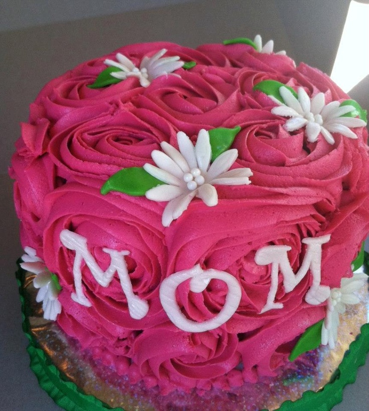Pink Rose Mother s Day Cake Cakes N Stuff Pinterest