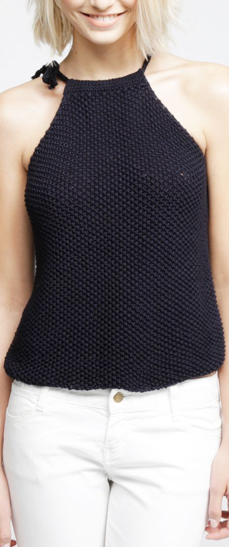Easy Knit Top Pattern : knit halter top CRoChET Pinterest