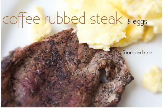 Coffee Rubbed Breakfast Steak | Valentine's | Pinterest