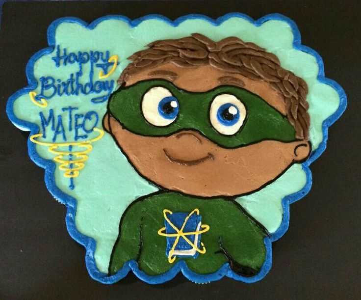 Super Why cupcake cake. Thus was for a friend. Cupcakes by Mars.
