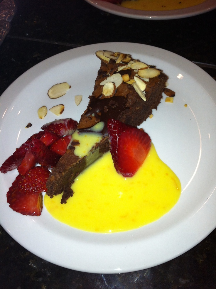 Chocolate Truffle Pie With Orange-Champagne Sabayon And Strawberries ...