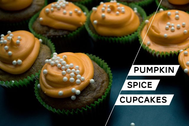 Gluten-Free Pumpkin Spice Cupcakes with Cream Cheese Frosting | Recipe