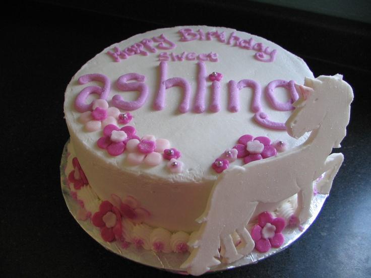 Birthday Cake Images Glitter : Unicorns and glitter birthday cake Party Planning ...