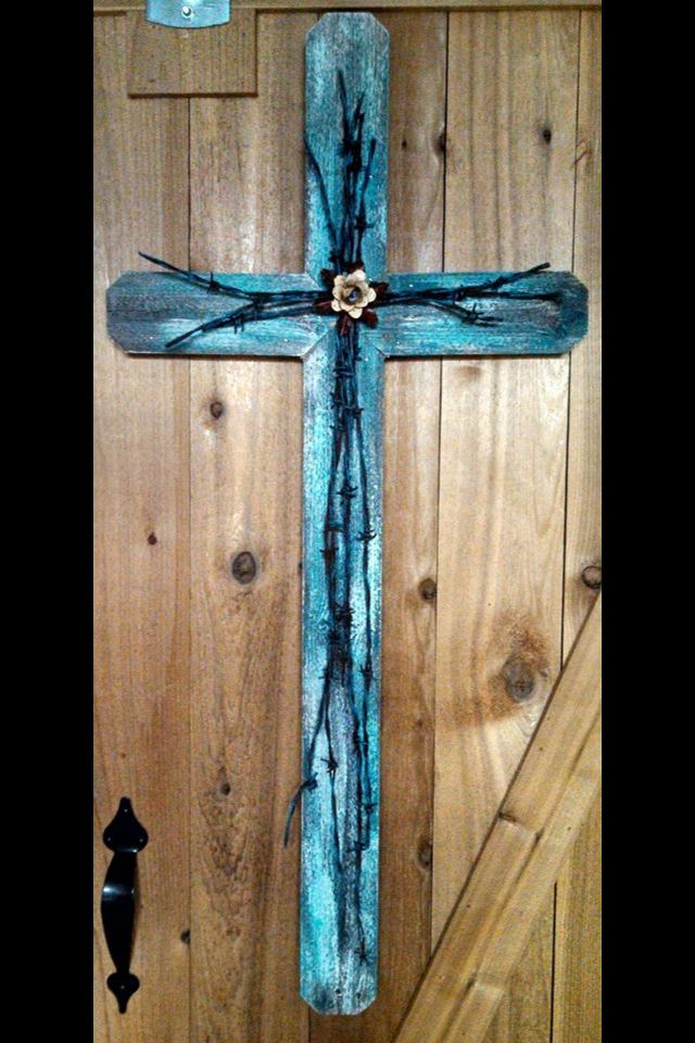 Barn Wood Crafts with Crosses