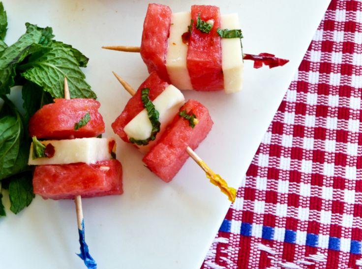 Grishma's Watermelon Mozzarella Salad #recipes #justapinch
