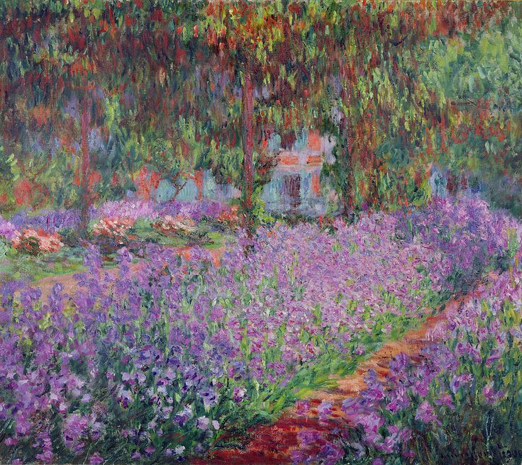The Artist's Garden at Giverny, 1900 (oil on canvas) by Monet, Claude (1840-1926)