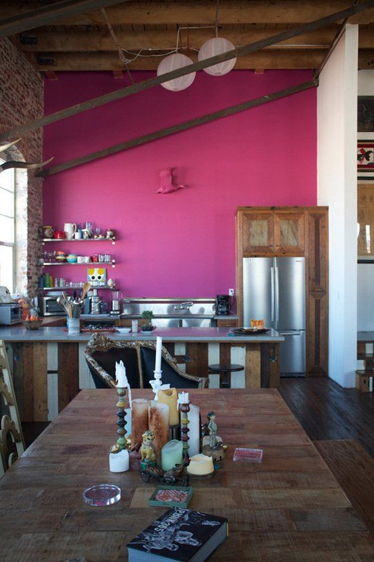 Antonio Ballatore 39 S Hot Pink Kitchen Wall