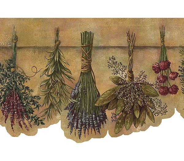 herbs wallpaper border - photo #2
