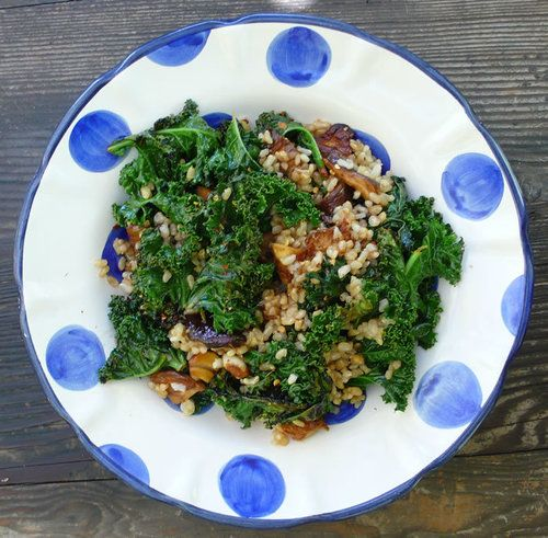 steamed kale brown rice bowl | Veg Out | Pinterest
