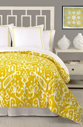 Up the bedroom with this lovely trina turk ikat comforter set