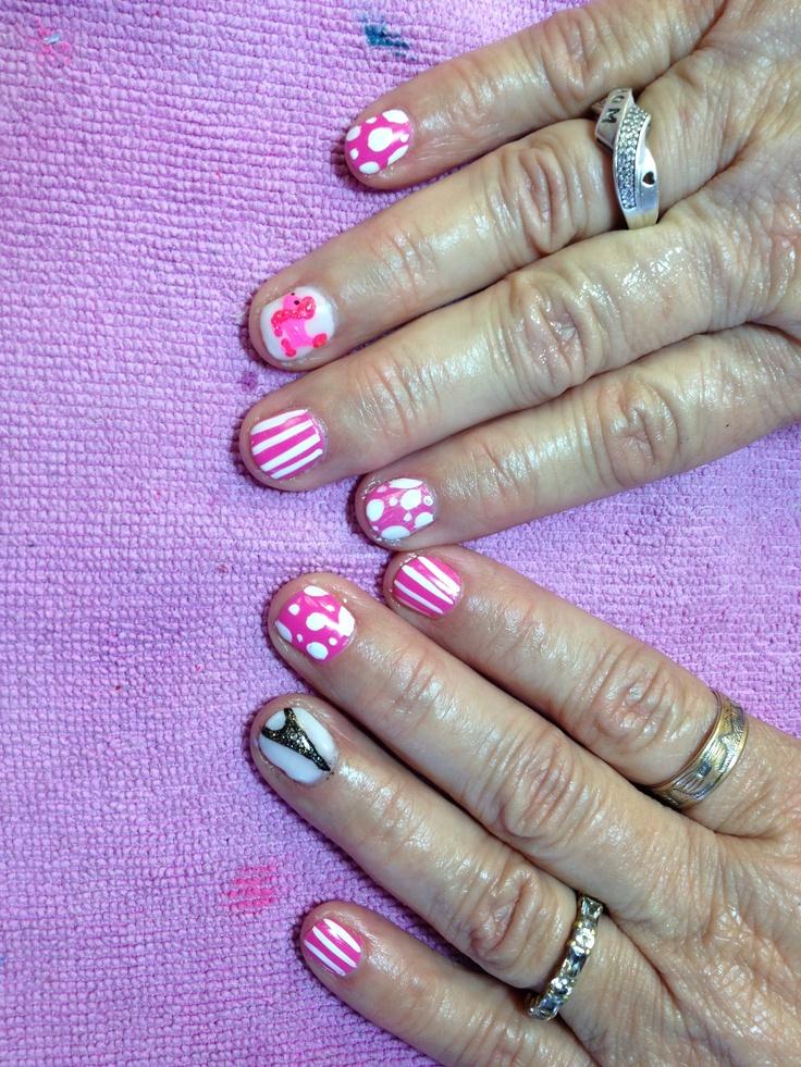 poodles in Paris nails By Kristi Owens at Astonish salon Midland, TX