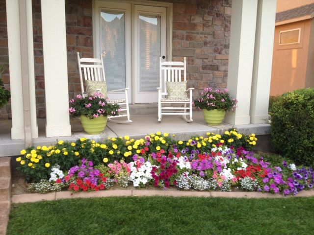 Front yard flower garden stone edging home sweet home - Flowers for the front yard ...