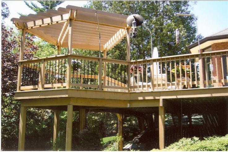 Home Decks  Wood Decks Tiered Wood Decks