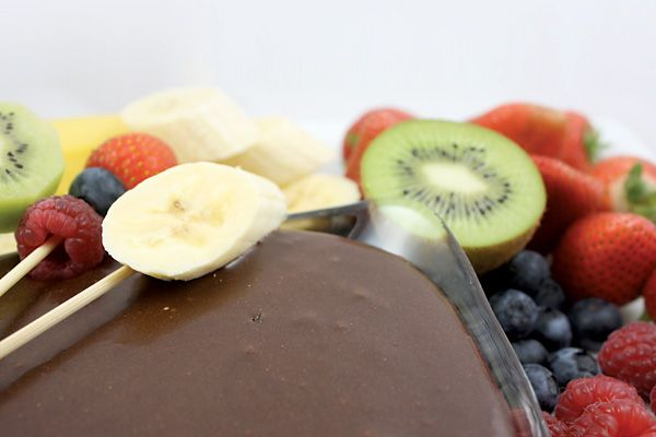 Chocolate Fondue - (made from raw cocao, agave, vanilla extract ...