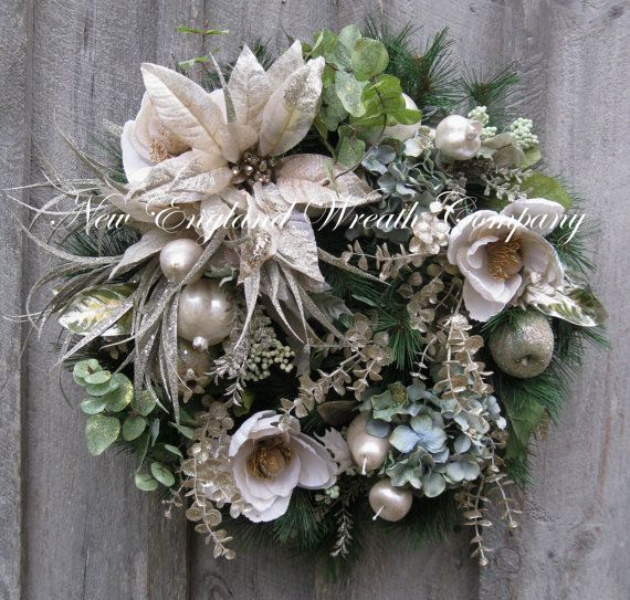 Christmas wreath holiday wreath designer holiday d cor for Elegant christmas decorations for sale