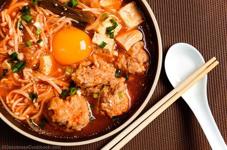 Kimchi Tofu Meatball Stew - Omnivore's Cookbook