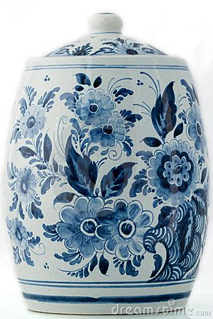 Delft Blue Cookie Jar Of Great Value Delftware