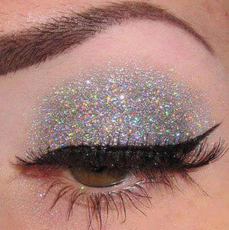 Silver glitter eyeshadow   Beauty   Pinterest
