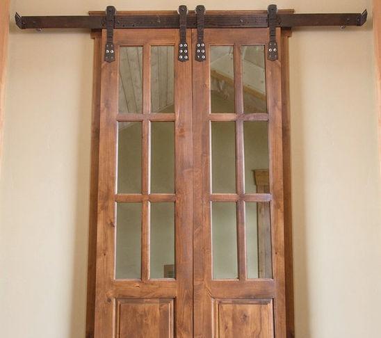 Pin by jeni on doors pinterest for French door barn door