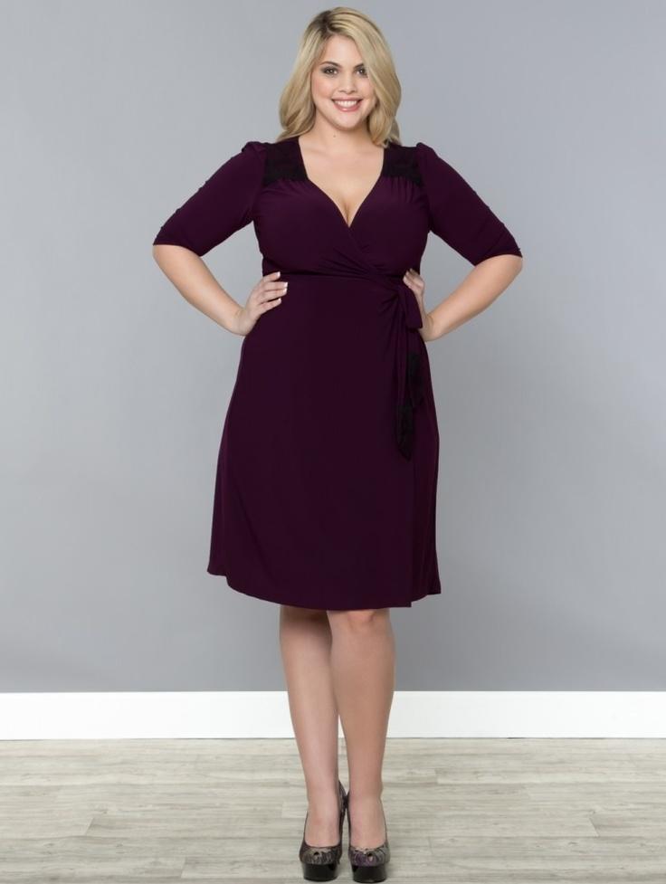 Kiyonna julieanne wrap kjole i plum www ladiva dk