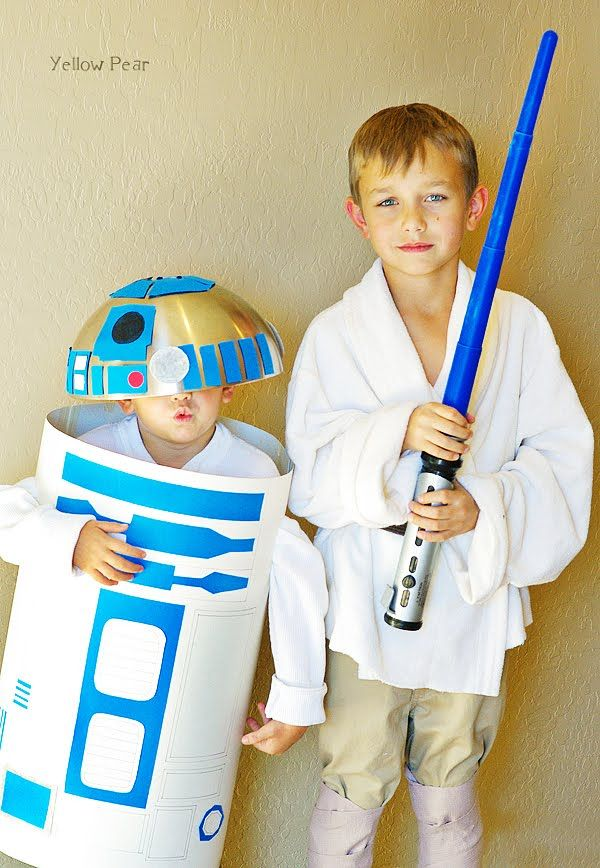 DIY Hallowen Costumes — Kids Stuff World.  Luke and R2D2
