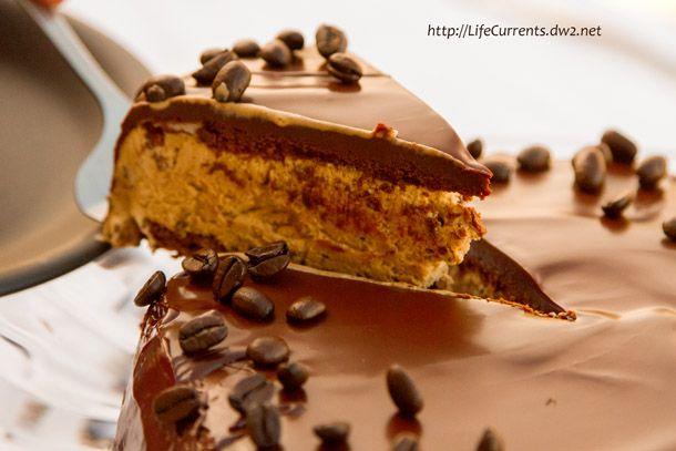 Frozen Mocha Cake with Chocolate Ganache Glaze ... Life Currents http ...
