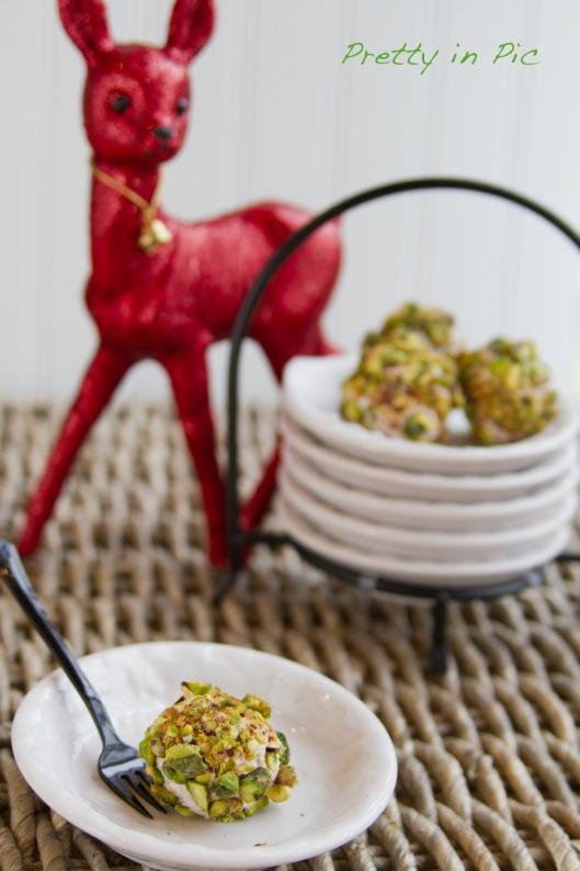 Pistachio Dusted Chèvre Truffles | Appetizers | Pinterest