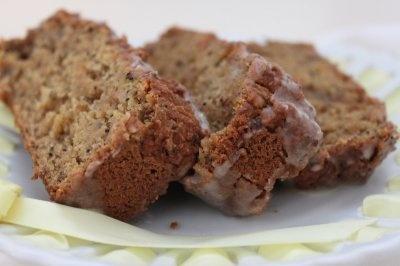 Gluten-Free & Vegan Lemon Poppy Seed Quick Bread with Vanilla Glaze!