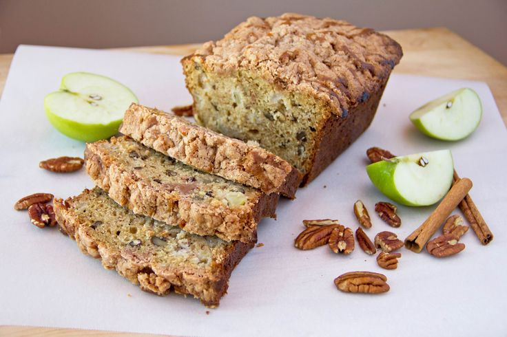 Apple Pecan Bread with Cinnamon Streusel | Sweets + Baked Goods | Pin ...