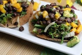 Avocado, Black Bean and Mango Tostadas   recipes to try   Pinterest