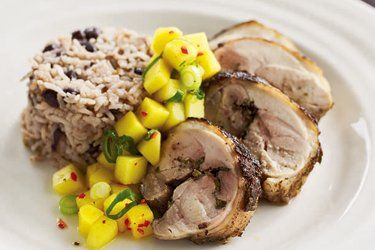 Jerk chicken & coconut rice with mango salsa recipe, NZ Herald – Jax ...