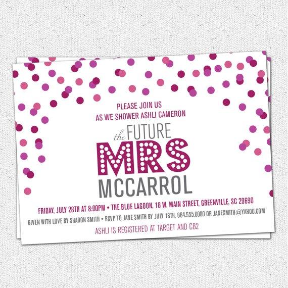 wedding shower party invitations